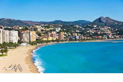 Málaga city, on the Mediterranean shore