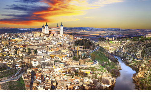 Alcazar of Toledo dominating the city