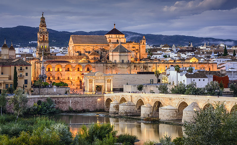 Cordoba city, on the Guadalquivir shore
