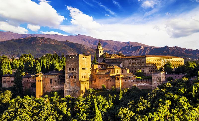 Sunset over Alhambra, Granada