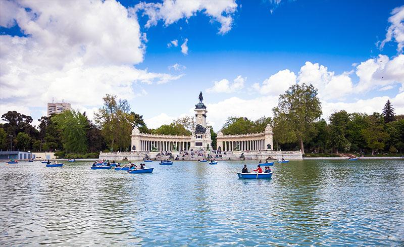 El parque del Retiro, Madrid