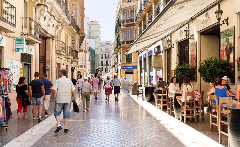 Calle Larios, el centro de Málaga