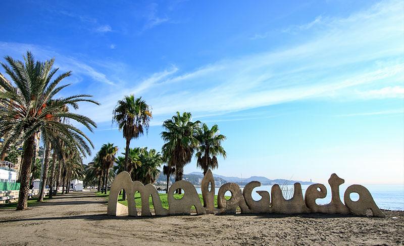 La playa de la Malagueta, Málaga
