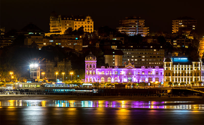 Santander by night