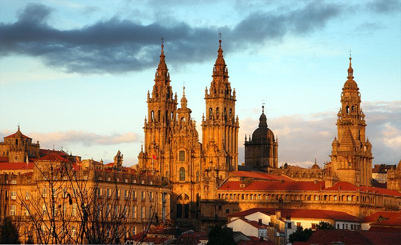 Sunset over Santiago de Compostela