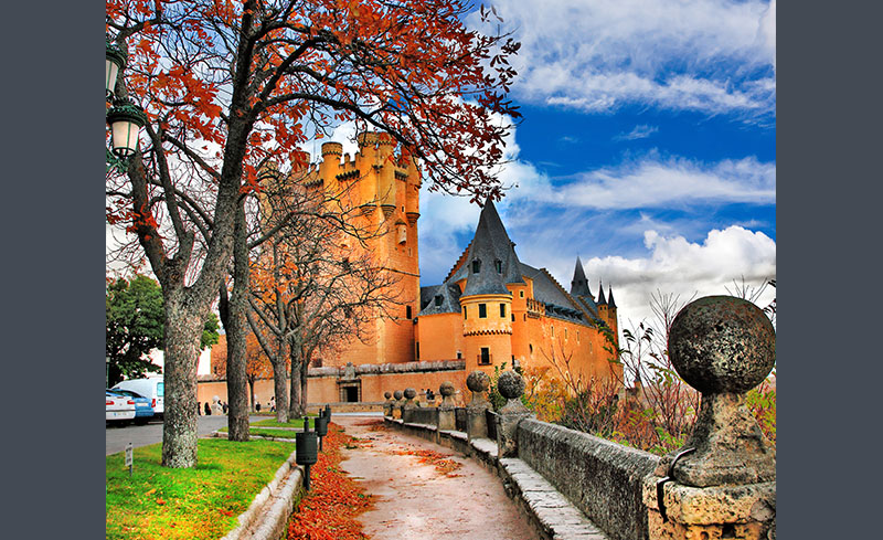 Autumn in Alcazar of Segovia