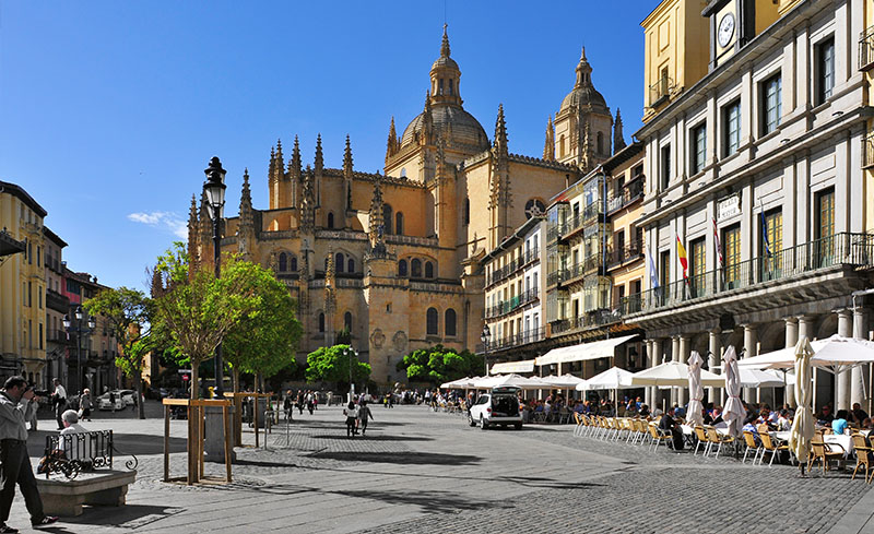 Streets and squares in Segovia