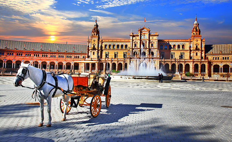 Carriage in Plaza de España, Seville