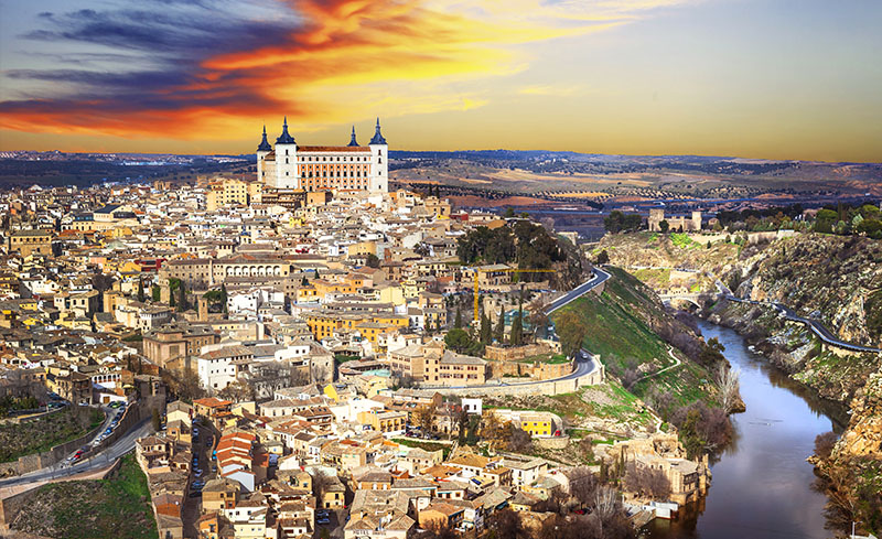 Alcazar of Toledo dominating the city