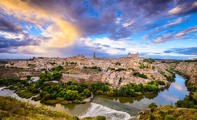 Toledo sorrounded by Tagus river