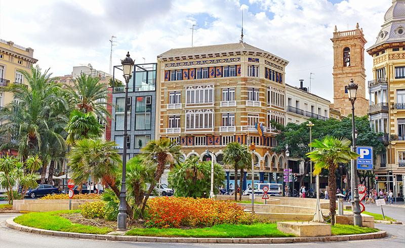 Calles y plazas en Valencia