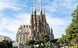 The Sagrada Família, Antoni Gaudí's unfinished masterpiece, Barcelona
