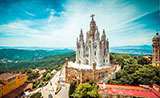 Tibidabo hill and the Church of the Sacred Heart, Barcelona