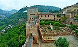 Vistas desde dentro de la Alhambra, Granada