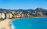 La ciudad de Málaga, bañada por la playa