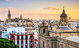 Views of Seville from the roofs