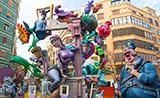 La fiesta de Las Fallas, Valencia